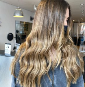 Summery Balayage Hair Colours at Beach hairdressers, Hove