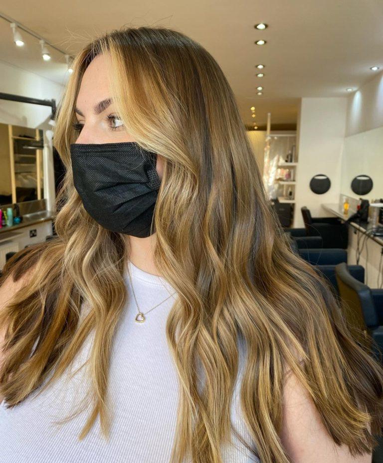 the latest face frame colour at Beach hair salon in Hove
